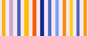 blau gelb orange