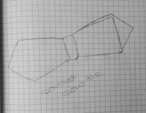 Diamond point oder auch pointed bow tie