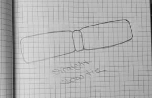 straight bow tie (schmaler Querbinder)